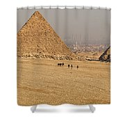 Ancient Of Times - Modern Of Times Shower Curtain