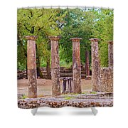 Ancient Olympia, Greece. Shower Curtain