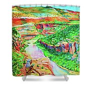 Ancient One Views River Shower Curtain