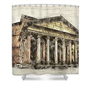 Ancient Pantheon Shower Curtain