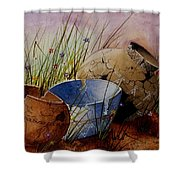 Ancient Relics A Paint Along With Jerry Yarnell' Study. Shower Curtain