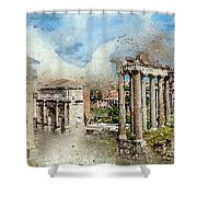 Ancient Rome II Shower Curtain