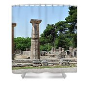 Ancient Ruins Wide Columns Shower Curtain
