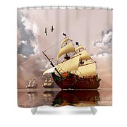Ancient Ships Shower Curtain