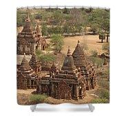 Ancient Stupa Shower Curtain