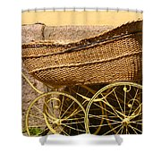 Ancient Swedish Baby Carriage Shower Curtain