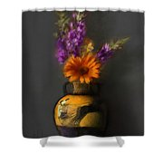 Ancient Vase And Flowers Shower Curtain