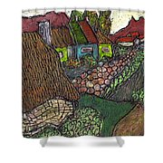 Ancient Village Shower Curtain