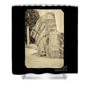 Ancient Wall Of Ostia Antica Shower Curtain