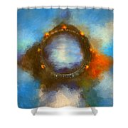 Ancient Worlds Shower Curtain