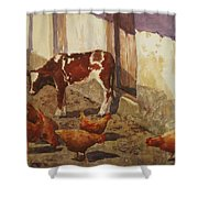 And Again The Sun Shower Curtain