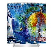 And Change The World Through Song... Shower Curtain