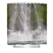 And Down Comes The Water Shower Curtain