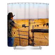 And God Made A Rancher Shower Curtain