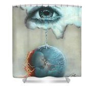 And God Weeps Shower Curtain