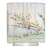 And The Earth Boiled Away Shower Curtain