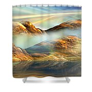 And The Light Shines On And On And On... Shower Curtain