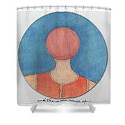 And The Moon Came Up Shower Curtain