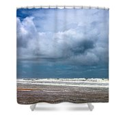 And The Sea Foam Rolls In Shower Curtain