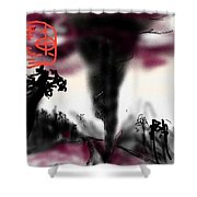 And The Sheep Ran Away With Wool Shower Curtain