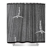 And When The Rain Began... Shower Curtain