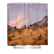 Andalucian Landscape Near Zahara De La Sierra Spain Shower Curtain