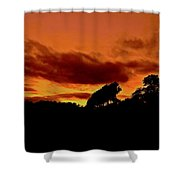 Andalusian Autumn Sky  Shower Curtain