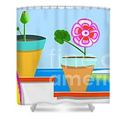 Andalusian Roof Shower Curtain