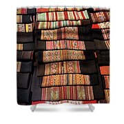 Andean Textile Market Shower Curtain