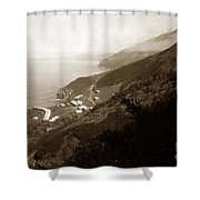Anderson Creek Labor Camp Big Sur April 3 1931 Shower Curtain