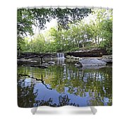 Anderson Falls, Indiana Shower Curtain