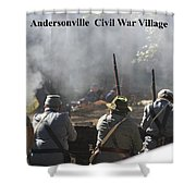 Andersonville Civil War Village Shower Curtain