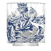Andrei Vasilevskiy Tampa Bay Lightning Pixel Art 2 Shower Curtain