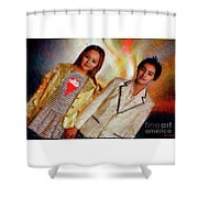 Andrew Blaner A Night Out Shower Curtain
