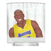 Andrew Bynum Shower Curtain