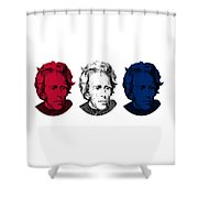 Andrew Jackson Red White And Blue Shower Curtain