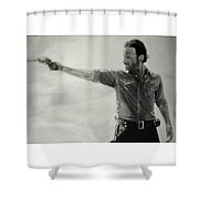 Andrew Lincoln Shower Curtain