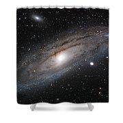 Andromeda Galaxy Lightened Shower Curtain