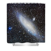 Andromeda Galaxy With Companions Shower Curtain