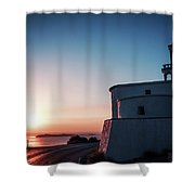 Andros Island Sunset - Greece Shower Curtain