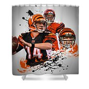 Andy Dalton Bengals Shower Curtain