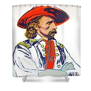 Andy Warhol, General Custer, Cowboys And Indians Series Shower Curtain