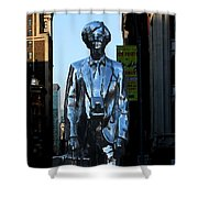 Andy Warhol New York Shower Curtain by Andrew Fare
