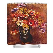 Anemones 1898 Shower Curtain