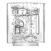 Anesthetic Machine Patent 1919  Shower Curtain
