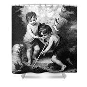 Angel - Angels With White Lamb Shower Curtain