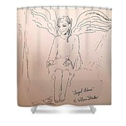 Angel Above Shower Curtain