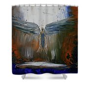 Angel Abstract  Shower Curtain