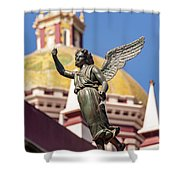 Angel And Cathedral Shower Curtain