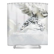 Angel And Dove Shower Curtain